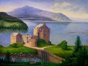 eilean donan castle oil painting by fred marsh