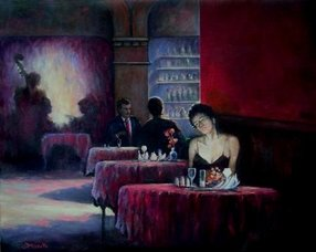 waiting games figurative painting