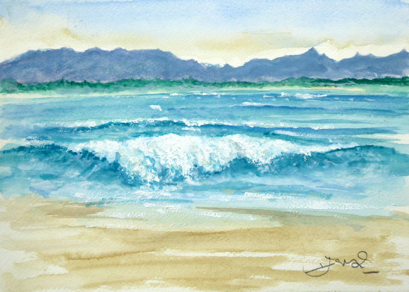 Painting of Surf, Byron Bay, Australia