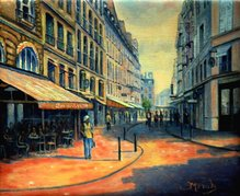 Rue Buci Paris france oil painting