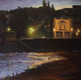 Coogee beach sydney asutralia in the evening oil painting