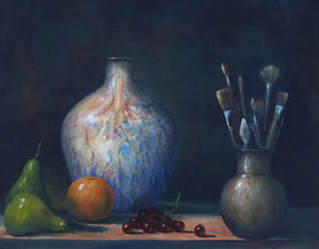 Still life Artists models and tools oil on canvas